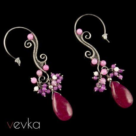 """Kolczyki z jadeitem """"Kolory miłości""""IV - Vevka.pl - autorska biżuteria artystyczna"""
