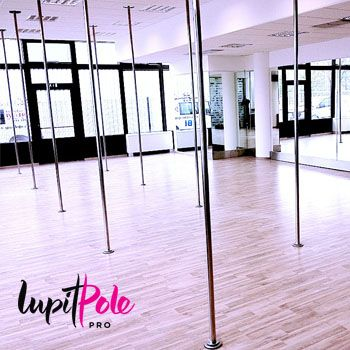 LUPIT POLE PRO – INOX STAINLESS STEEL is designed for professional use in pole dance studios, fitness centers, and other places where quick (10 seconds) installation/removal is necessary.  It is commonly used for pole dance competitions.