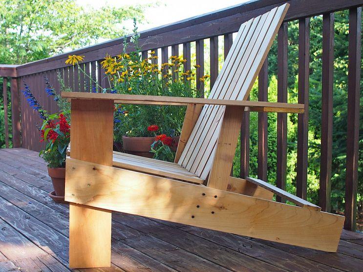 Easy, economical DIY Adirondack chairs: $10, 8 steps, 2 ...