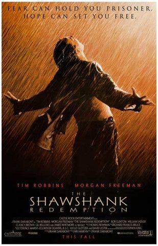 Shawshank Redemption Fear Can Hold You 11x17 Poster Posteres De