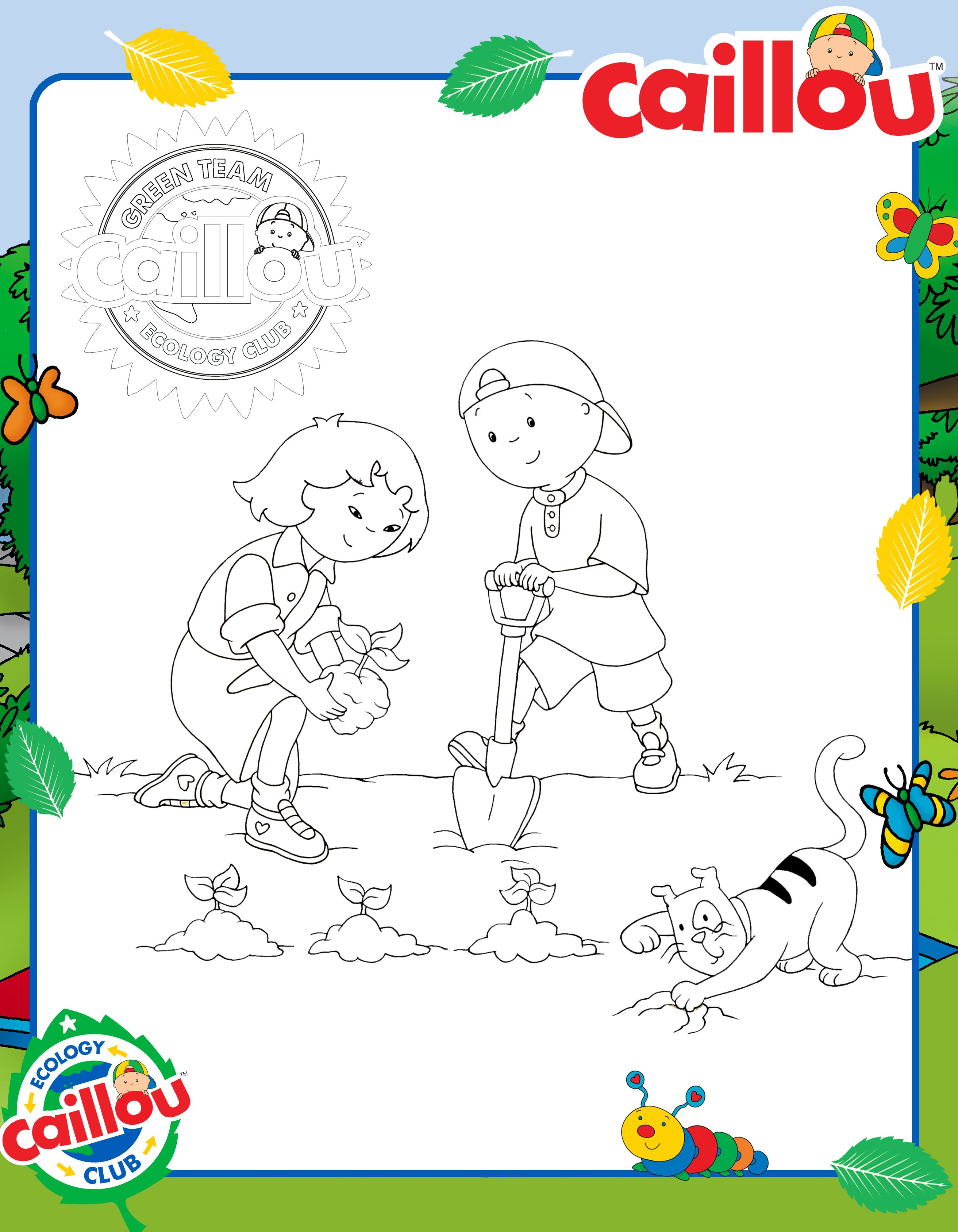 Plant a Tree with Caillou, Sarah & Gilbert! #EarthDay | CAILLOU ...
