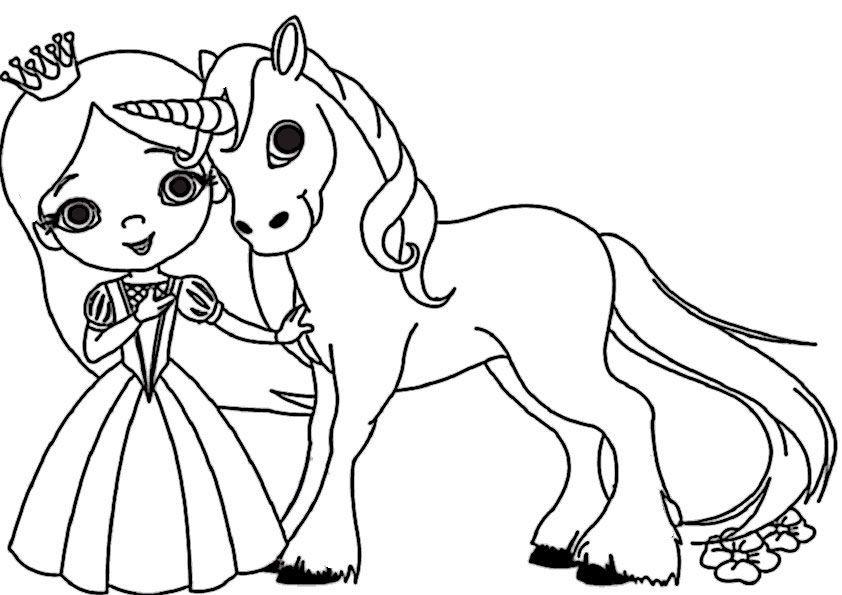 Coloring Pages Unicorn Princess