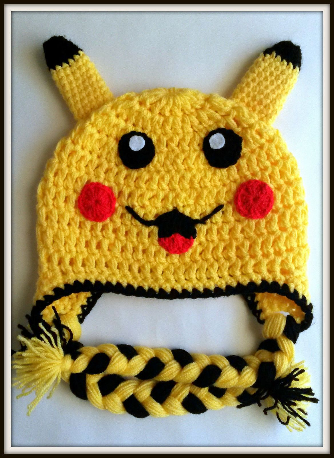 Pokemon pikachu Crochet baby Kids hat Handmade fancy costume ...