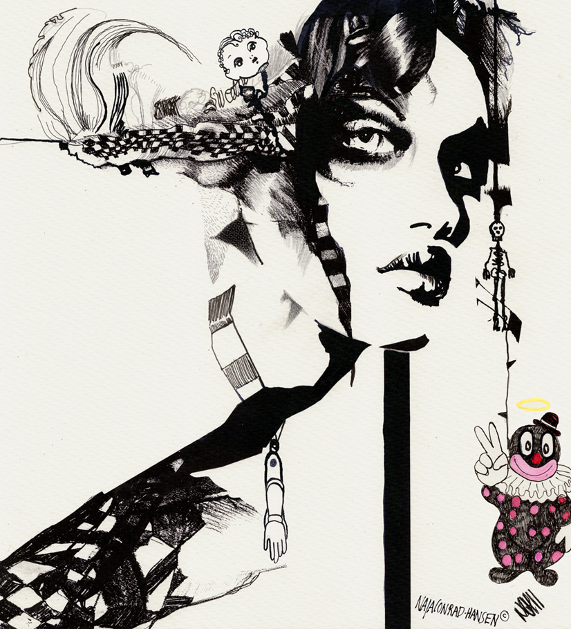 Naja Conrad Hansen Drawing Illustrations Illustration