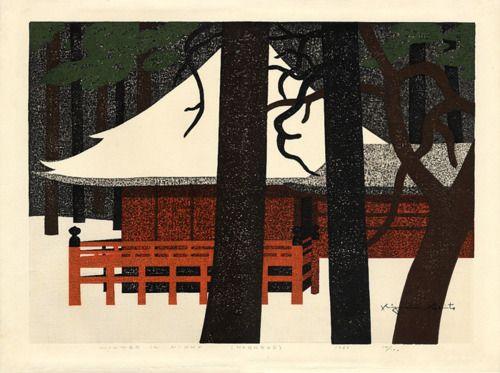 kiyoshi saito Tumblr Neige Pinterest Art classique