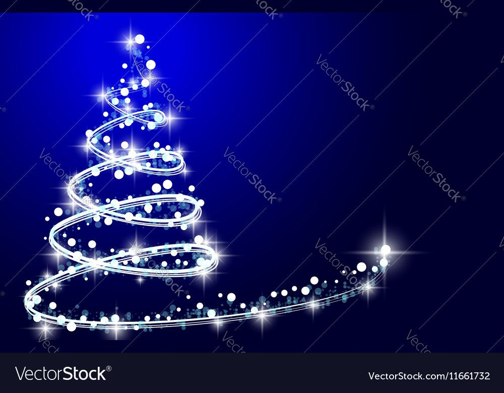 How To Design A Christmas Tree Vector Image On Vectorstock Christmas Tree Christmas Lights Background