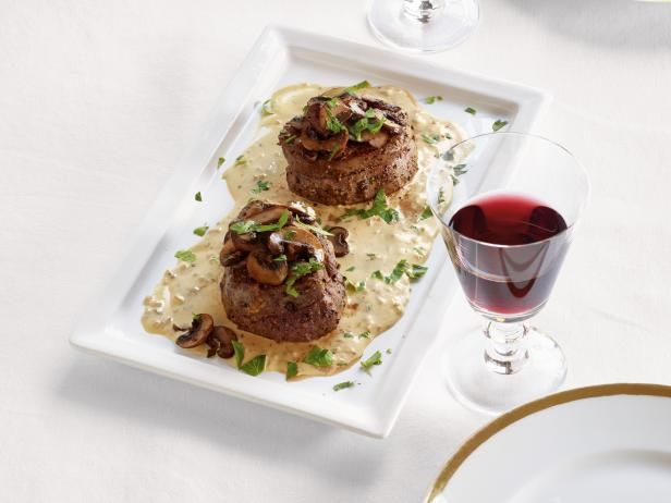 Food Network Magazine (January/February 2017): Filet Mignon with Mustard and Mushrooms