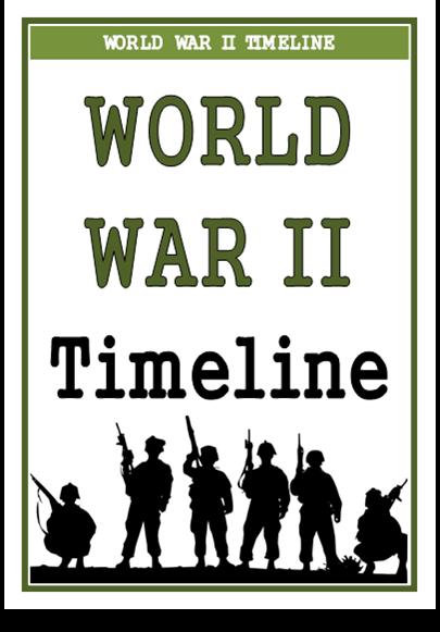 World War Two Timeline - Treetop Displays - Downloadable EYFS, KS1 ...