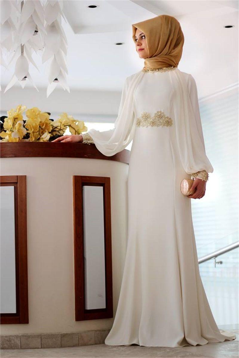 Gamze Polat Kugu Gupur Abiye Ekru Elbise Elbiseler Elbise Modelleri
