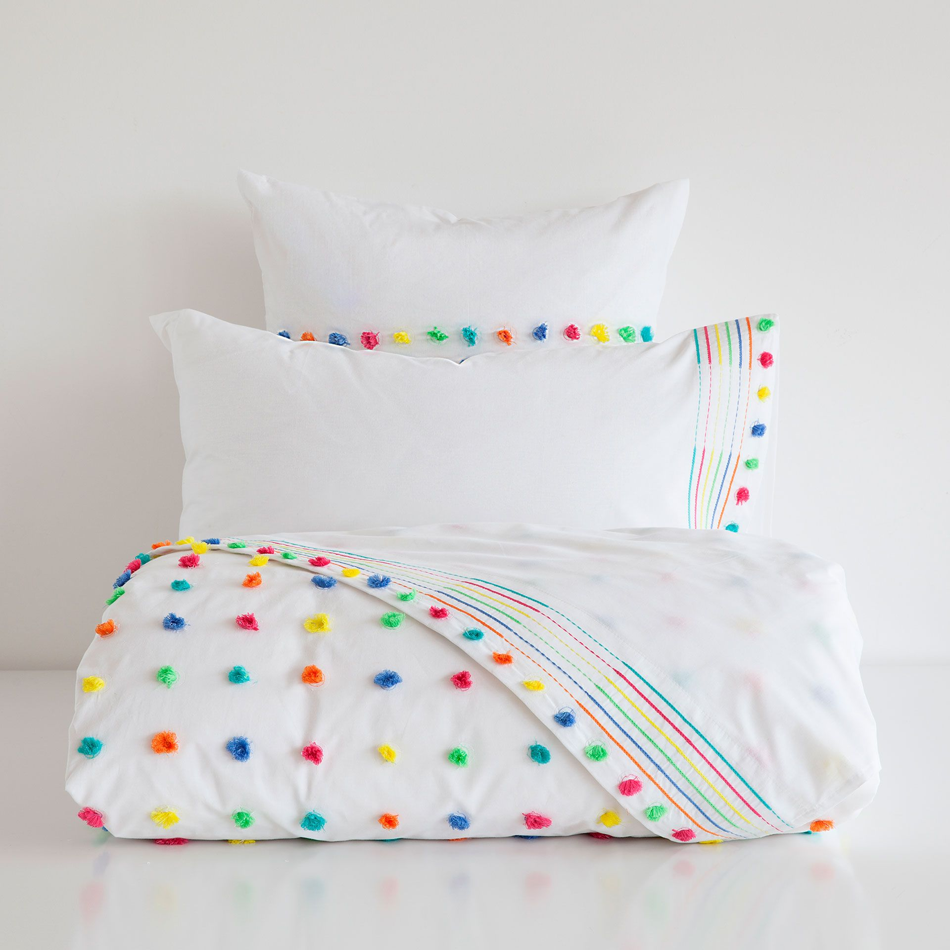 POMPOM EGYPTIAN PERCALE BED LINEN   Bed linen design ...