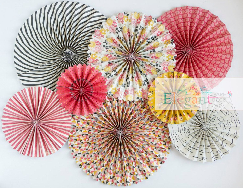 My Story Party Pinwheel Backdroppaper Rosette Backdropwall