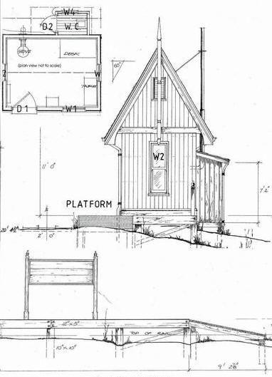 Plans for quaint Gothic Style architecture railroad