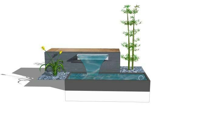Wasserfall Garten Pinterest