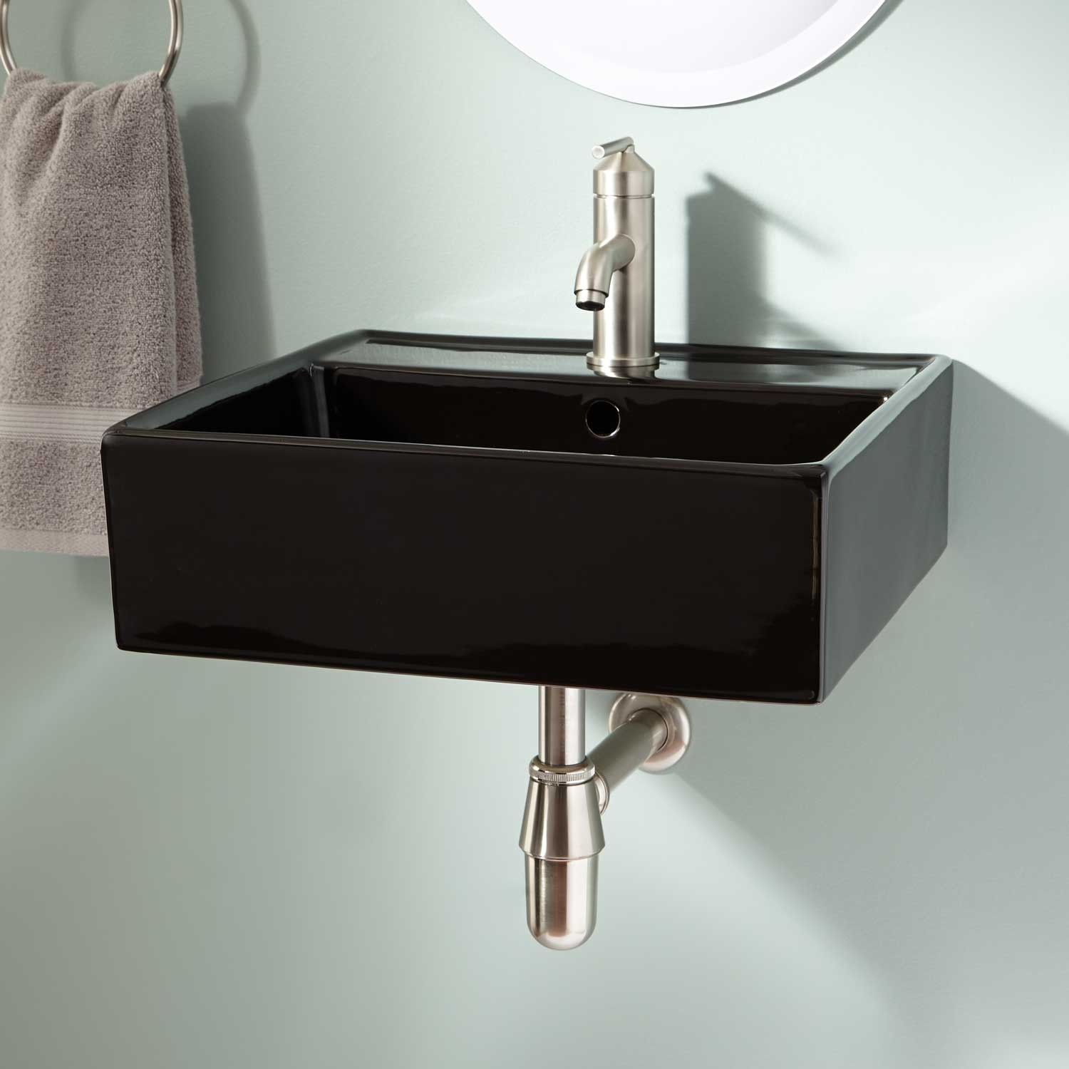 Audrie Wall Mount Bathroom Sink Wall Mount Sinks Bathroom Sinks Bathroom Wall Mounted Bathroom Sinks Sink Wall Faucet