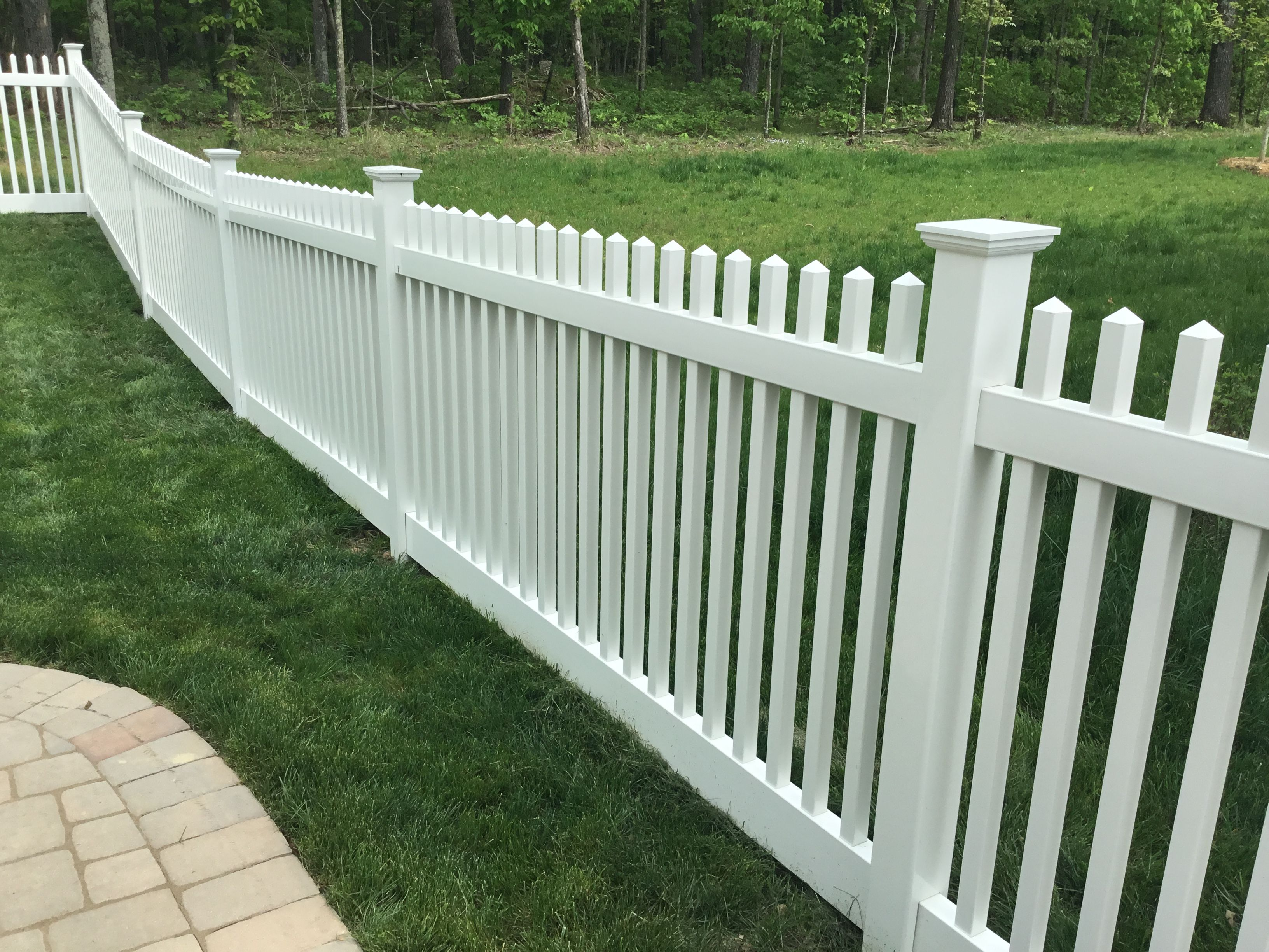 Vinyl Picket Fence White Vinyl Picket Fence Design Ideas Beautiful