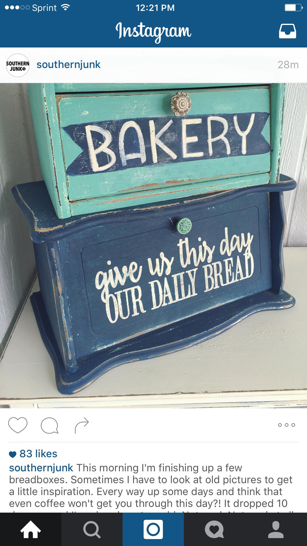 bread box, no instructions. Vintage bread boxes