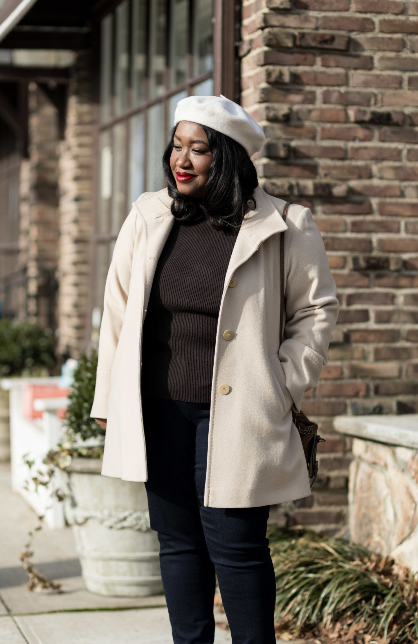 4e8c5bac60 Plus Size Neutral Coat Outfit Idea • Plus Size Fashion • Shifting into  Neutral• Shapely Chic Sheri  plussize  plussizeoutfits  ootd  style