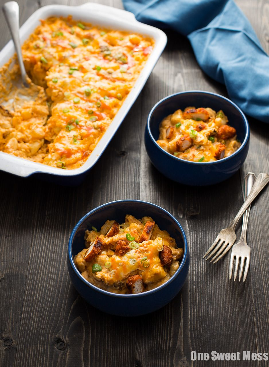 Buffalo Chicken Mac And Cheese Hot And Spicy Buffalo Wings And Cheese Combine To Create