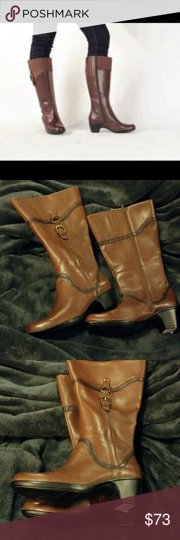 15546e337076 Wide Calf! Clarks Ingalls Vicky 2 Leather Boots These wide calf-width boots  feature