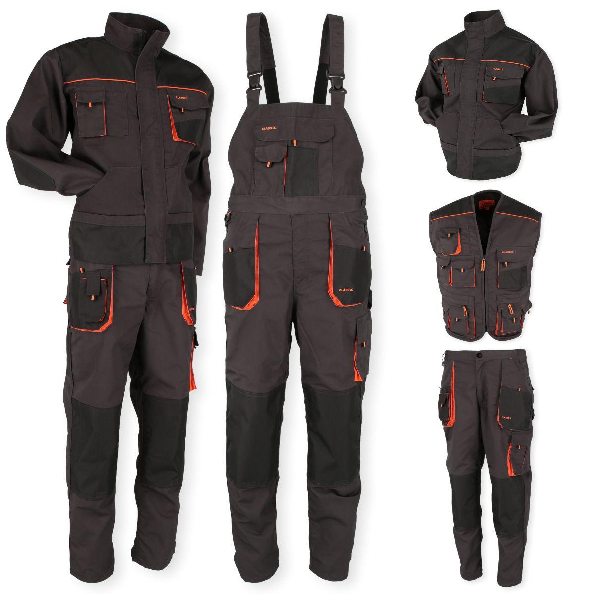 Ab 20 99 Arbeitshose Arbeitsjacke Latzhose Arbeitsweste Berufskleidung Grosse 46 62 Neu Mechanic Clothes Outdoor Outfit Mens Sweat Suits