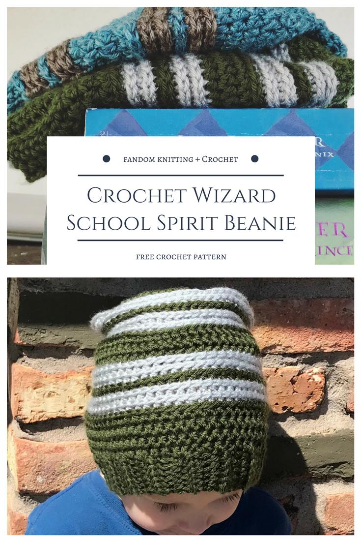 Crochet Wizard School Spirit Beanie – Free Pattern | Hats - Crochet ...