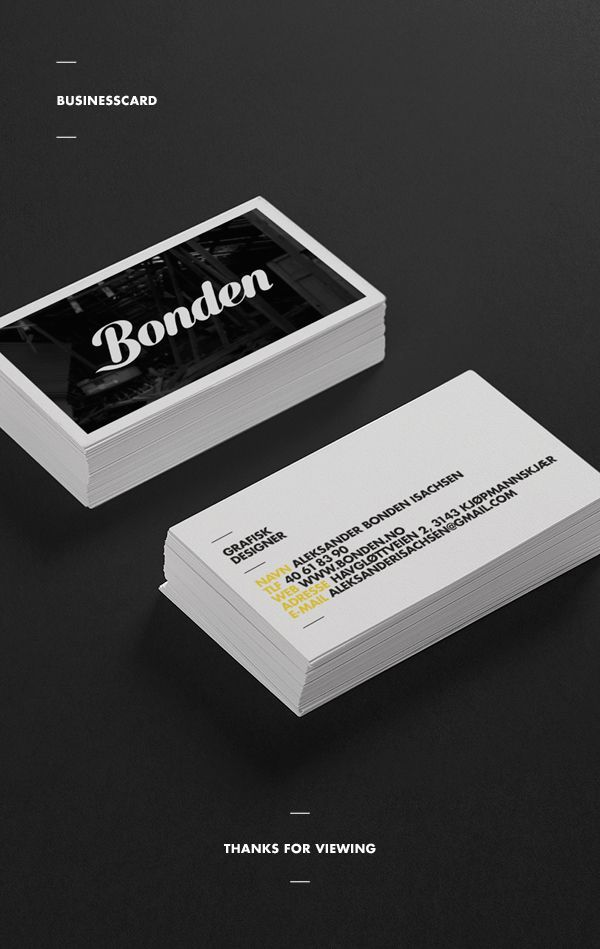Self Promotion by Aleksander Bonden Isachsen, via Behance | Business ...
