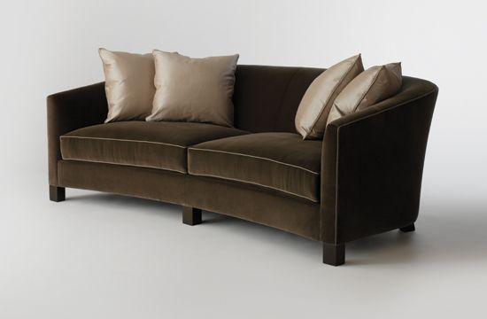 HOLLY HUNT crescent sofa.