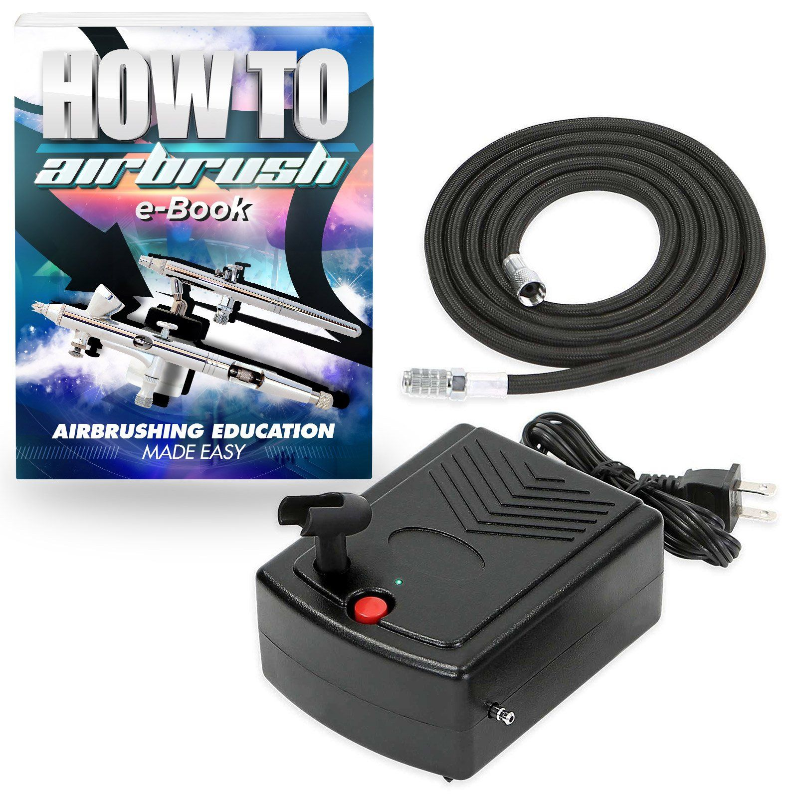 PointZero Mini Airbrush Compressor Portable Hobby Oil