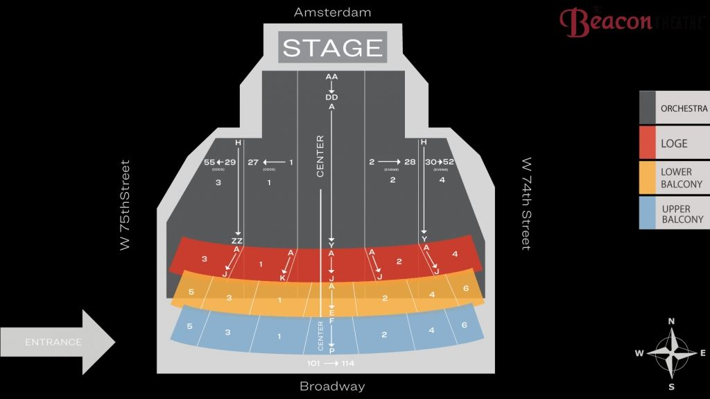 Beacon Theatre Seat Map Msg Official Site Inside Beacon Theater Detailed Seating Chart Beacontheaternycinteractiveseatingchart Beac Beacon Theater Seating Charts Theatre