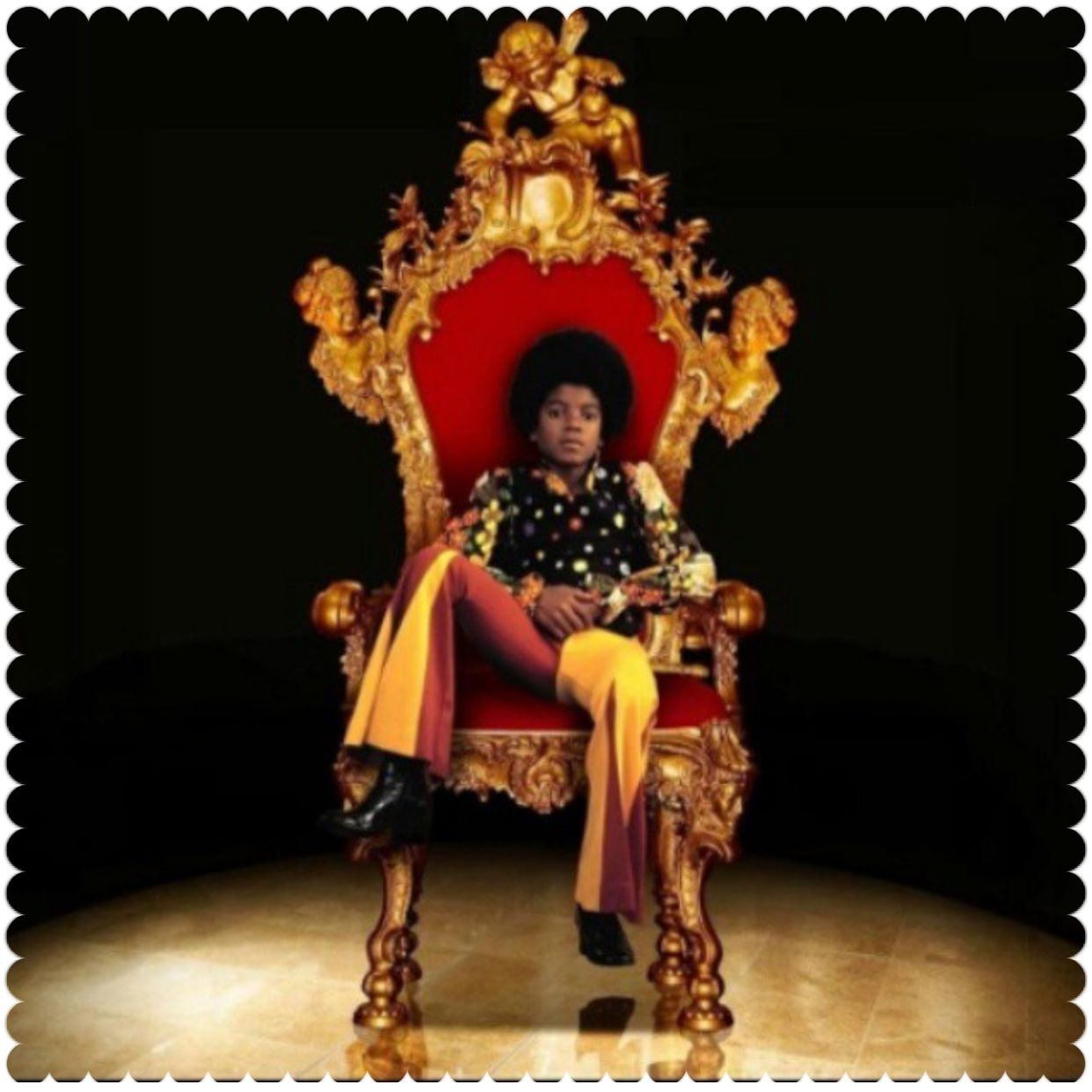 Michael Jackson In The King Chair Michael Jackson Michael Jackson Album Covers Micheal Jackson