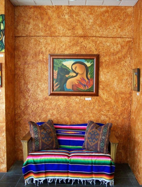 Moderne Einrichtungsideen im mexikanischen Stil - Dekoration - schone ideen moderne schlafzimmer wanddeko