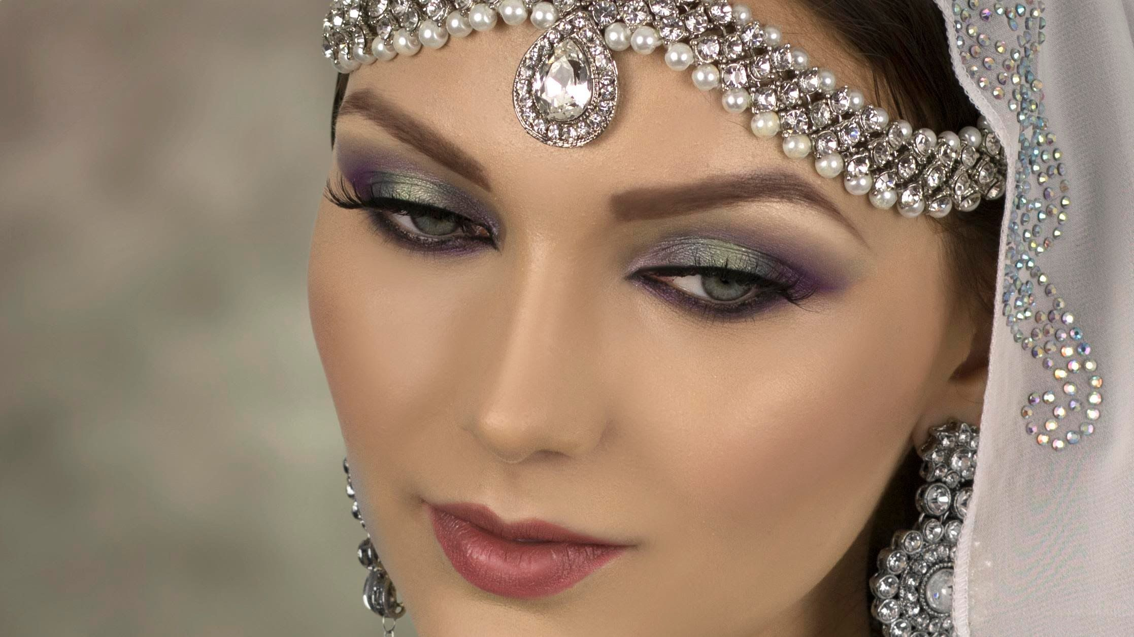 Eid Makeup Lilac And Blue Smokey Eye (With images