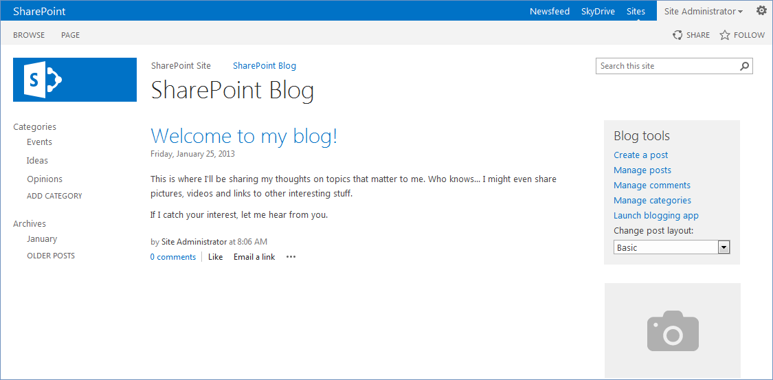 windows sharepoint services provides a blog template that makes creating a blog easy a blog can contain lists and libraries lots of information