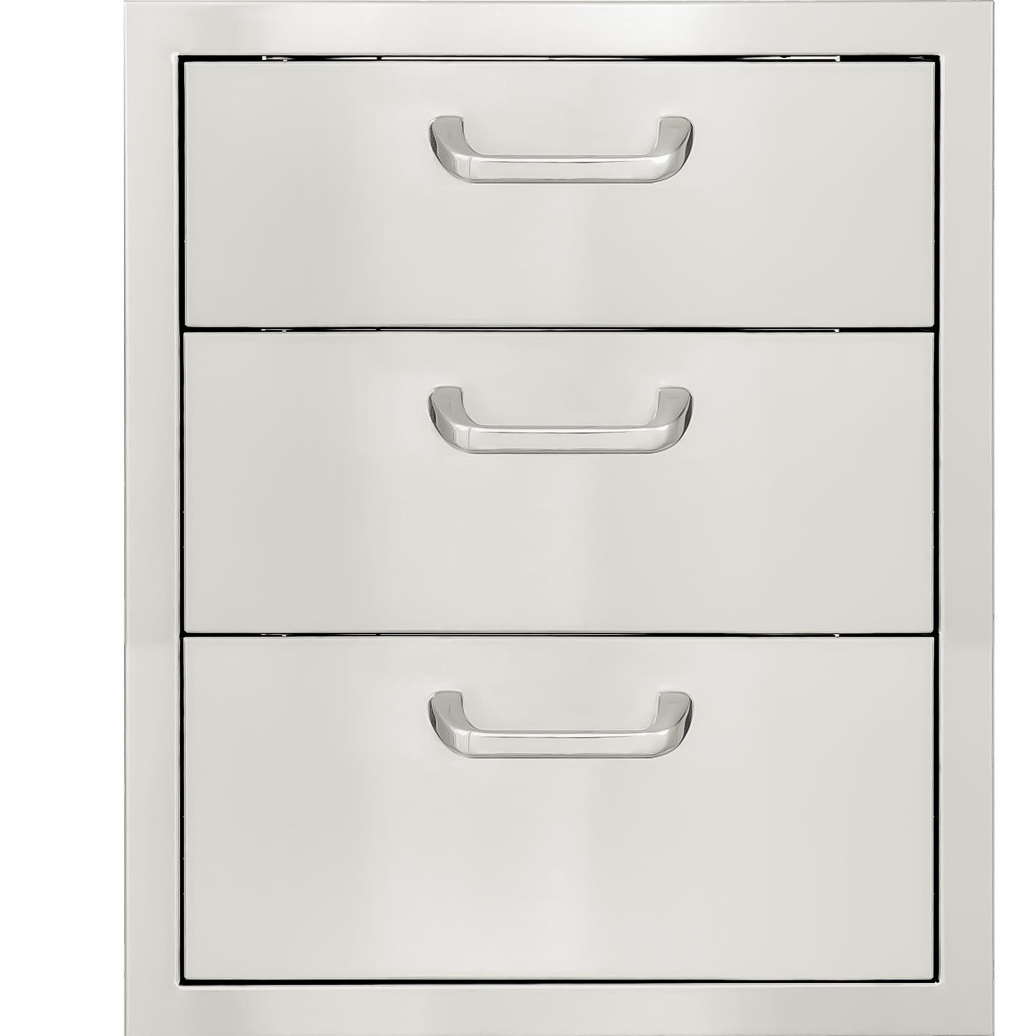 Bbqguys Kingston Series 20 Stainless Steel Triple Access Drawer Bbq 260 3dr Outdoor Kitchen Cabinets Outdoor Kitchen Design Stainless Steel Cabinets