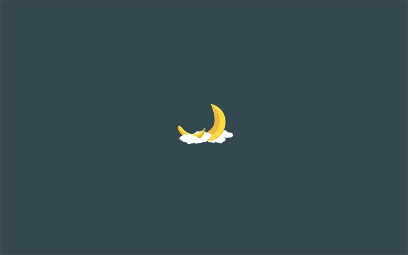 Banana Moon Minimalist Wallpaper Dark2 Minimalist Desktop Wallpaper Aesthetic Desktop Wallpaper Iphone Minimalist Wallpaper
