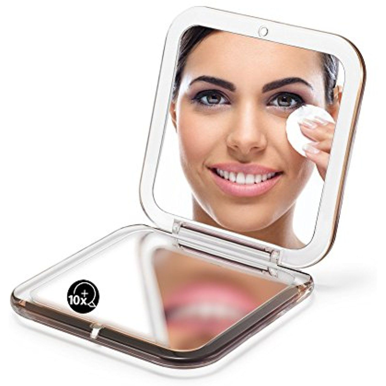 Omiro Folding Compact Mirror 1x 10x Magnification 3a A Pocket Size Square Hand Mirror For Travel Makeup G Travel Makeup Mirror Travel Makeup Compact Mirror