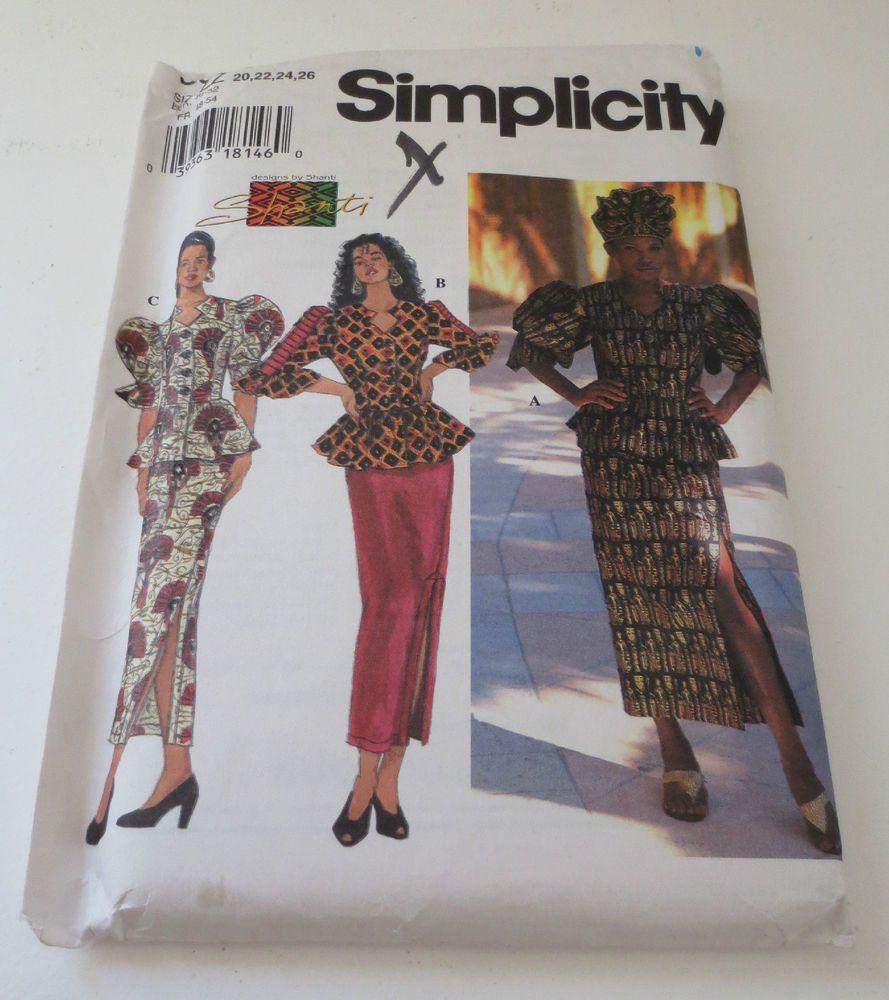 New Simplicity Shanti African Skirt Top Sewing Pattern #9623 Uncut ...