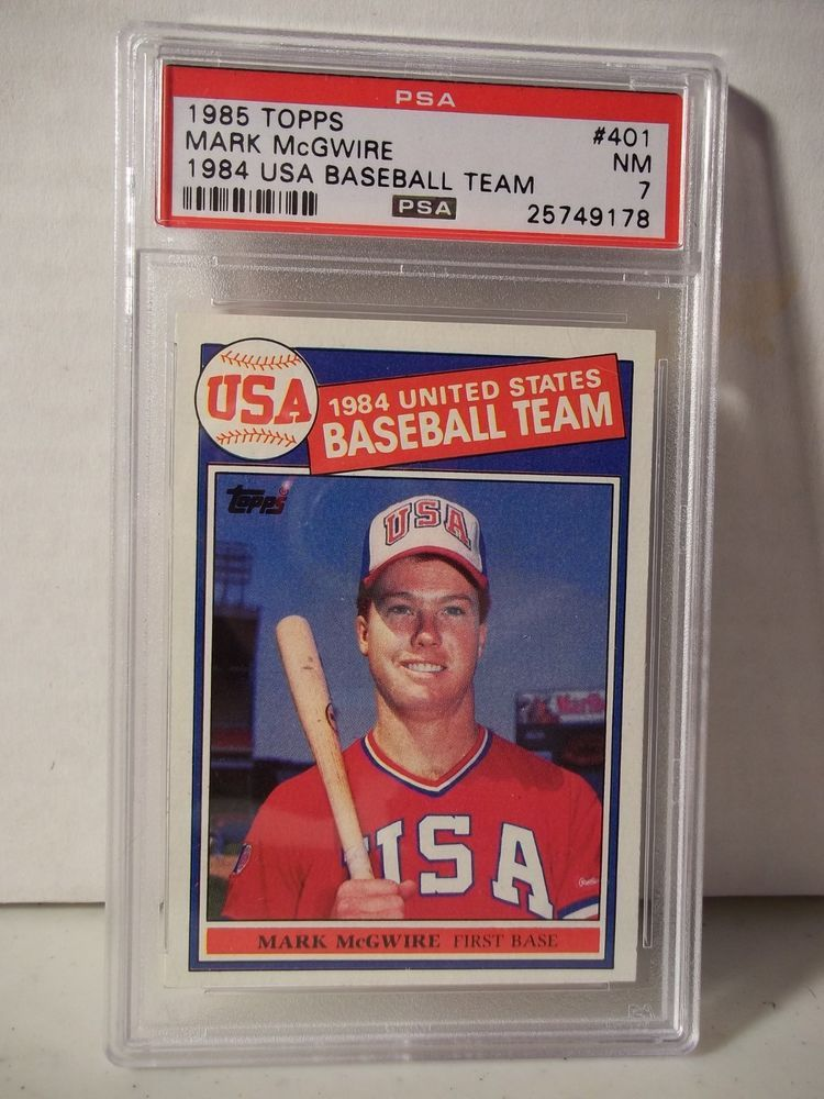 1985 Topps Mark Mcgwire Rookie Psa Nm 7 Baseball Card 401 Mlb