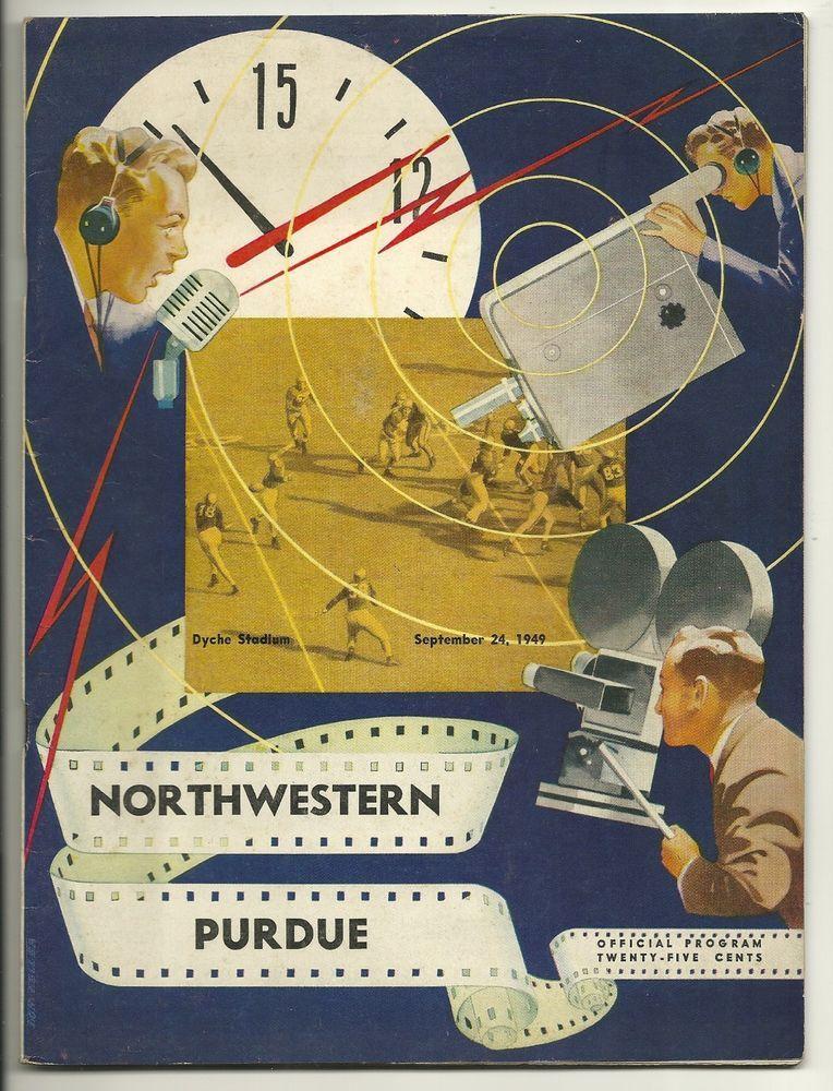1949 Northwestern WIldcats vs. Purdue NCAA Football