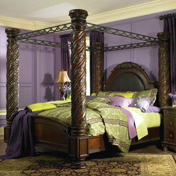 north shore poster canopy bedmillenniumashley furniture