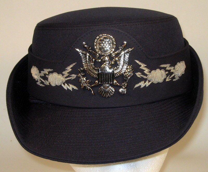 USAF US Air Force Female Field Officer Dress Blues Hat Cap Amazons Women a3724c08305