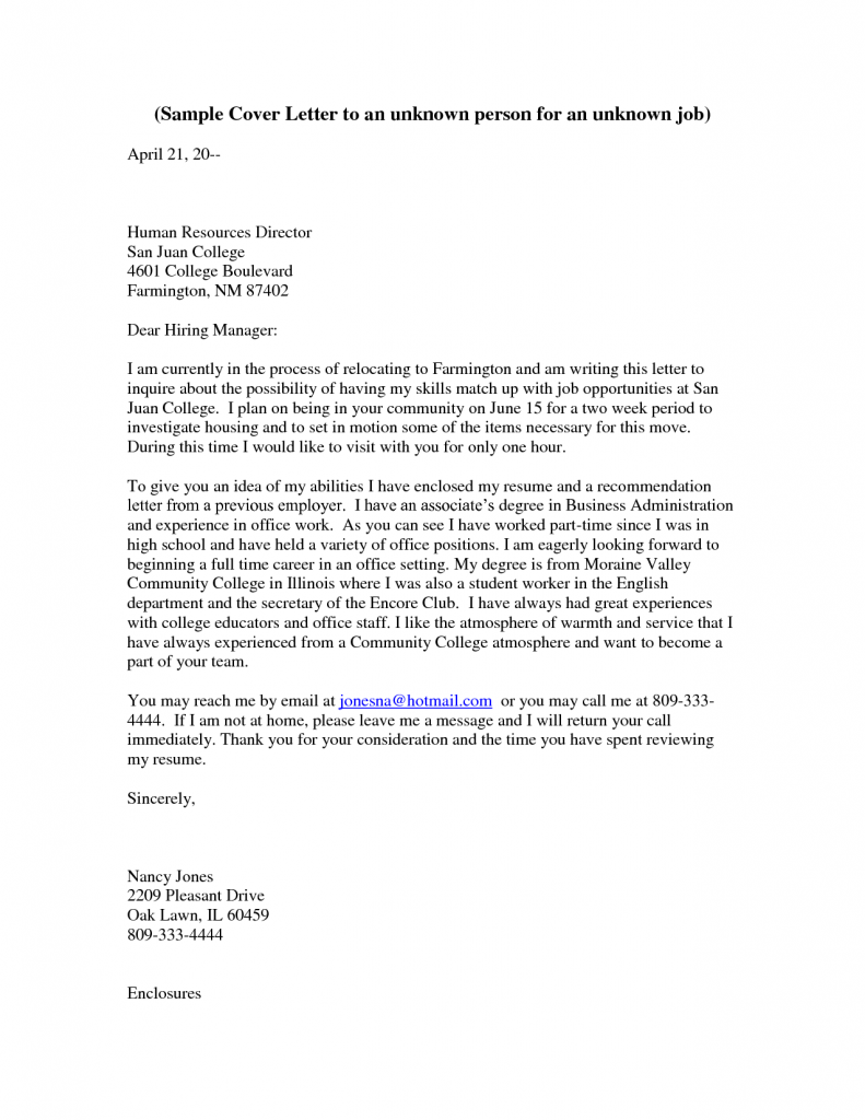 Cover Letter How To Address Someone In A Cover Letter Online