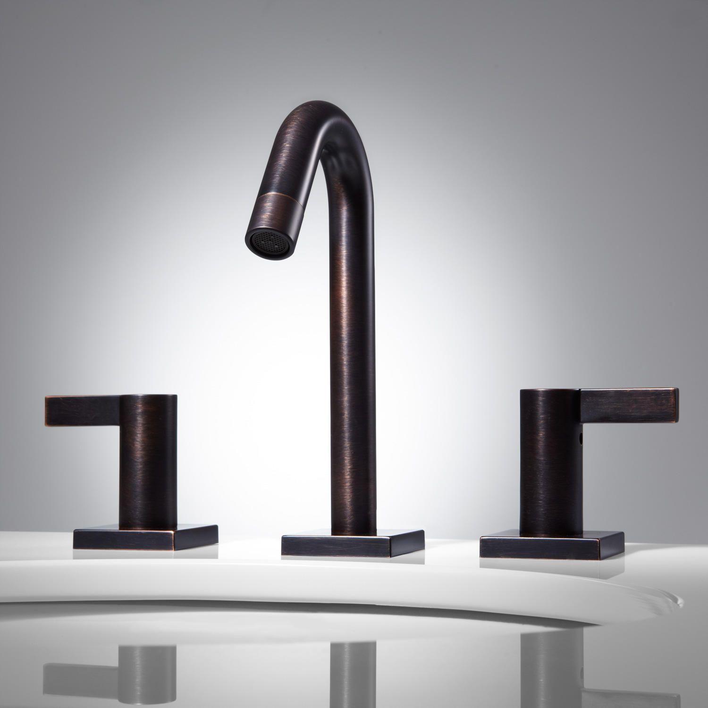 Flair Widespread Bathroom Faucet - No Overflow - Dark Antique Bronze ...
