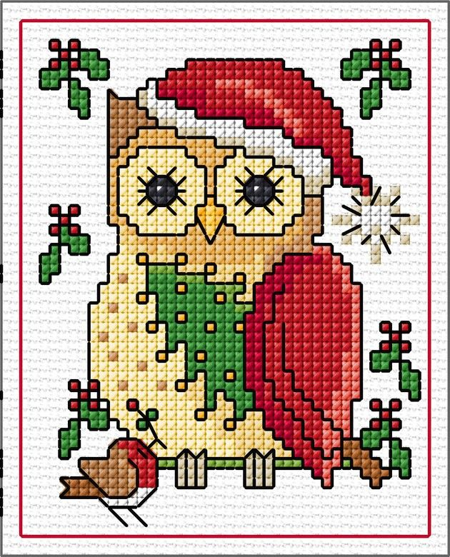 """Photo of """"December"""" Owls SAL 2019 – Lesley Teare posted 30th Nov 2019. You can obtain her…"""