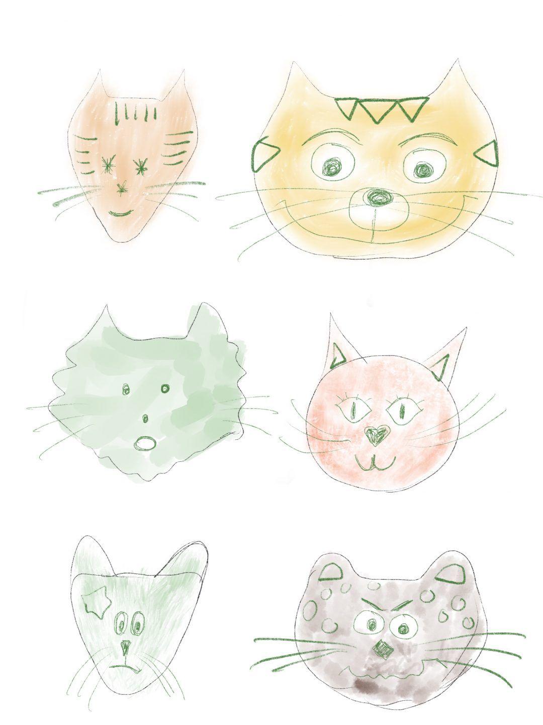 malvorlage katze mit jungen  aglhk
