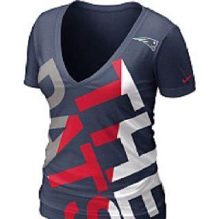 Nike New England Patriots Women s Off Kilter Tri-Blend T-Shirt - Navy Blue 7a0e14de6