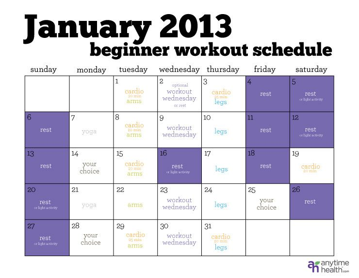 The Busy Beginner's Workout Schedule - For the beginners out there ...