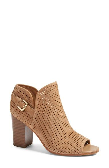 19d755ae506911 Free shipping and returns on Sam Edelman Easton Perforated Open Toe Bootie  (Women) at Nordstrom.com. Tiny perforations add depth and texture to a ...