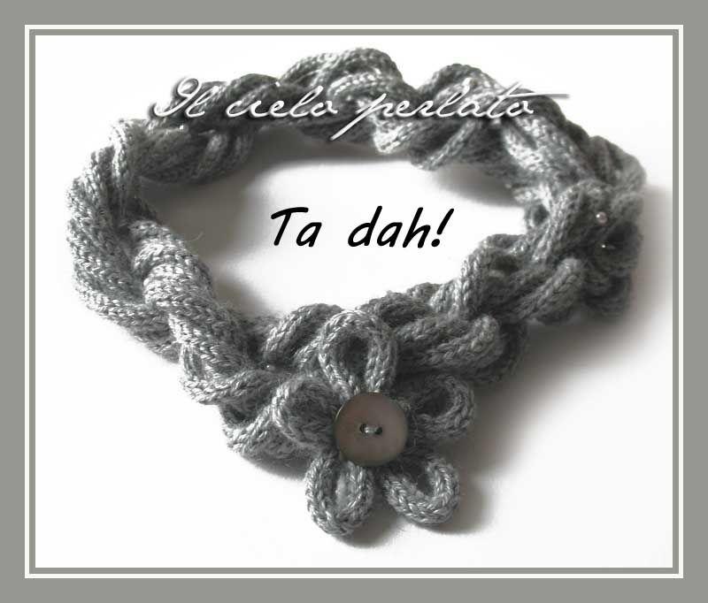 il cielo perlato: Come indossare collane realizzate con il tricotin