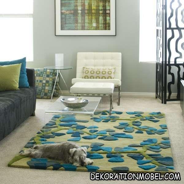 teppiche modern angela adams grün blau blumen | Пол | Pinterest ...